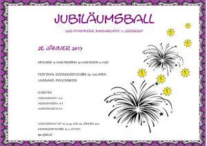 Jubiläumsball Plakat Vorschau