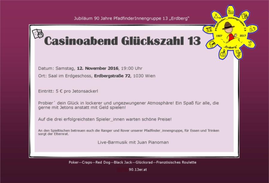 Casinoabend Flyer Vorschau